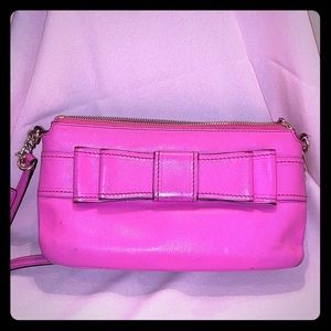 Kate spade pink crossbody bag with bow